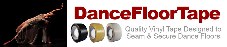 Vinyl Tape to Seam and Secure Dance Floors and Marley Dance Floors