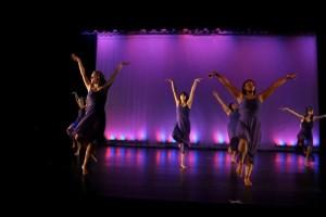 dancers on vinyl dance floor