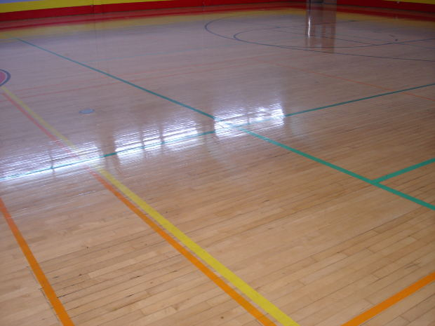 gym floor tape from thetapeworks.com